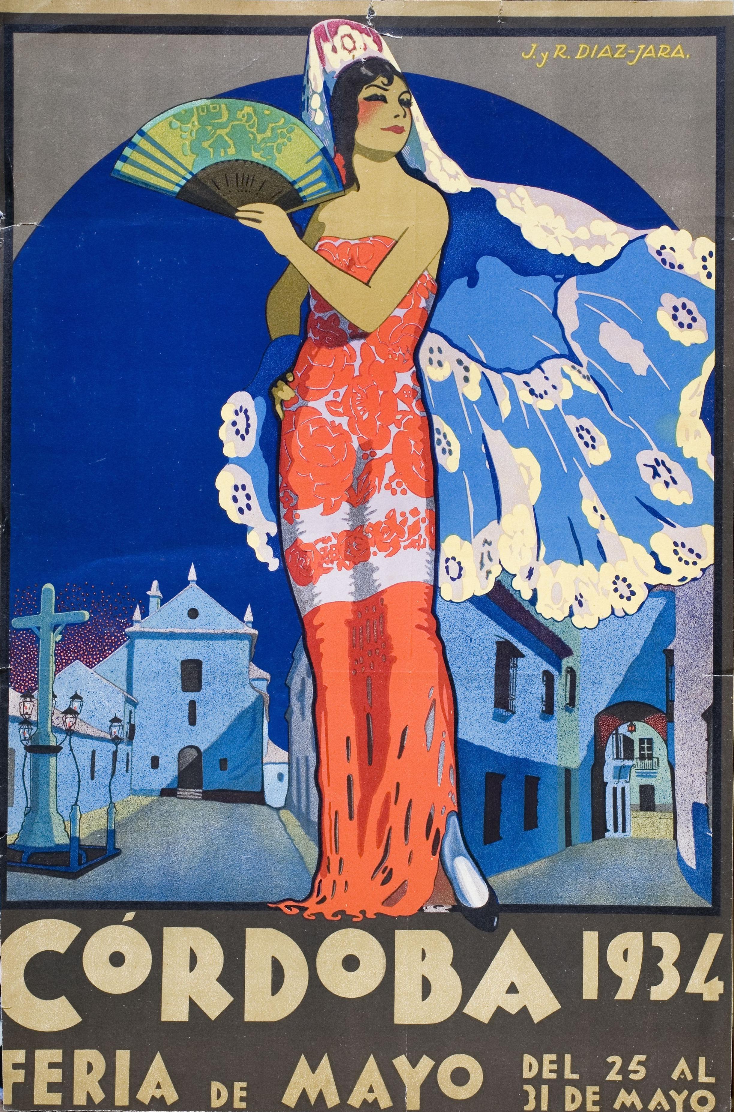 Cartel de la feria de Córdoba 1934