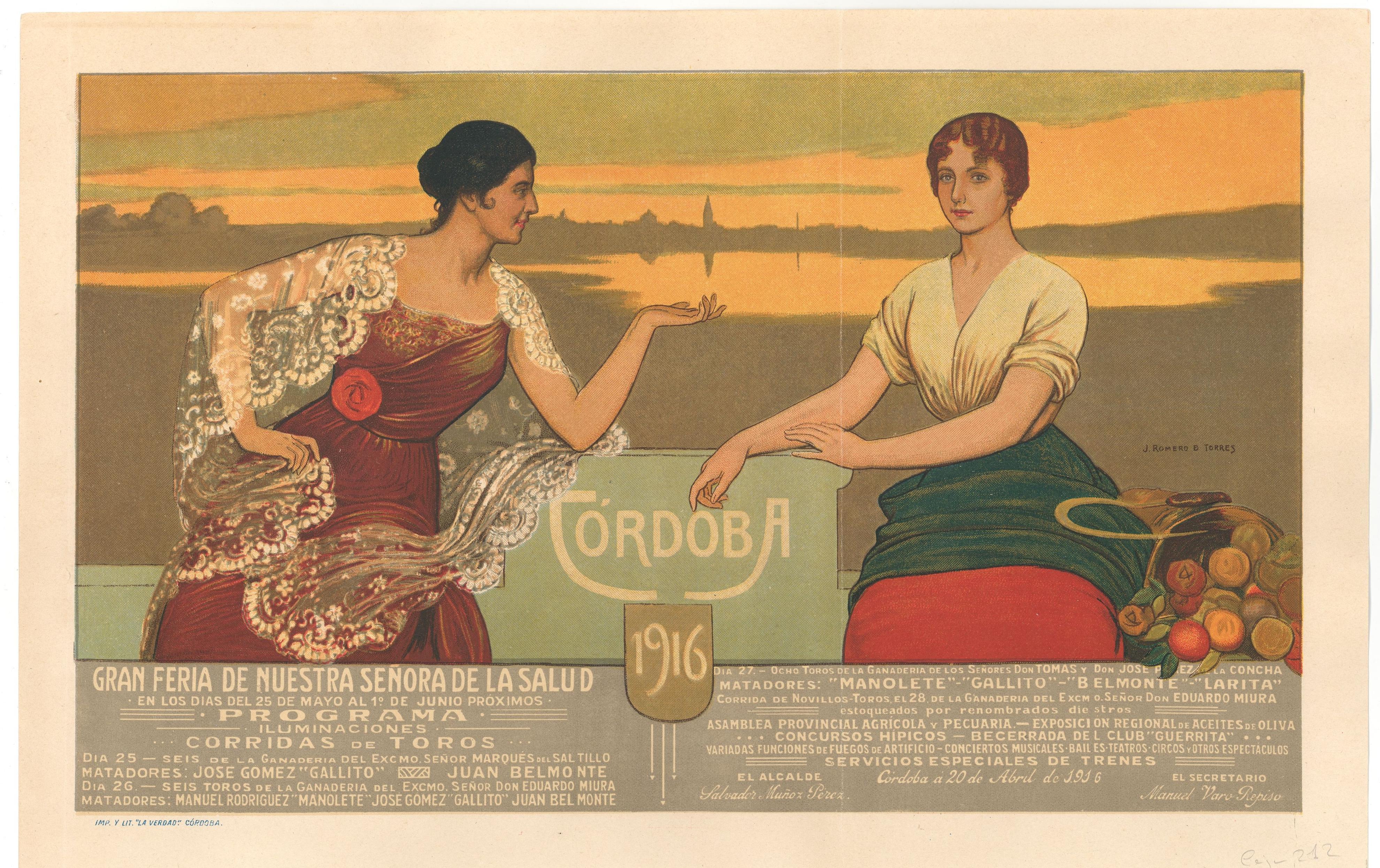 Cartel de la feria de Córdoba 1916