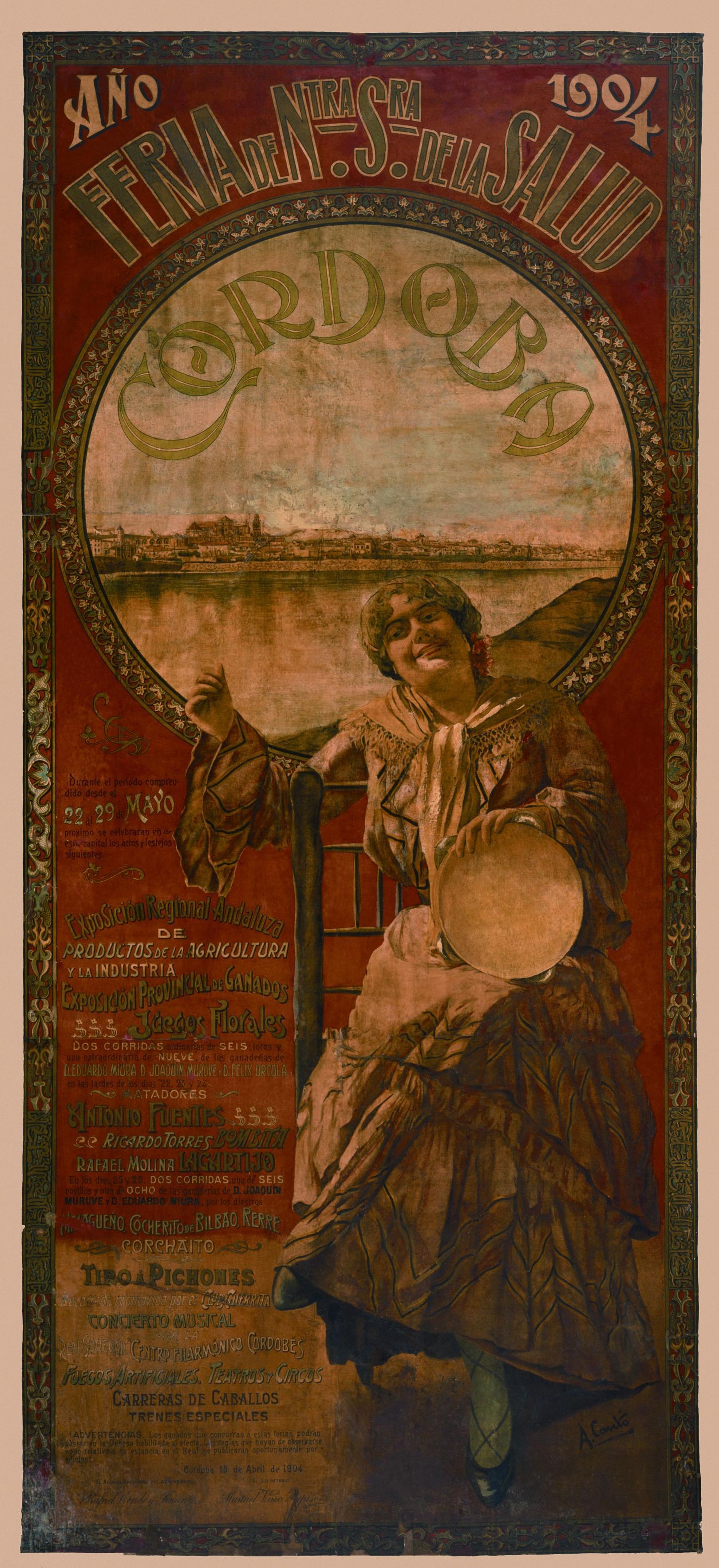Cartel de la feria de Córdoba 1904