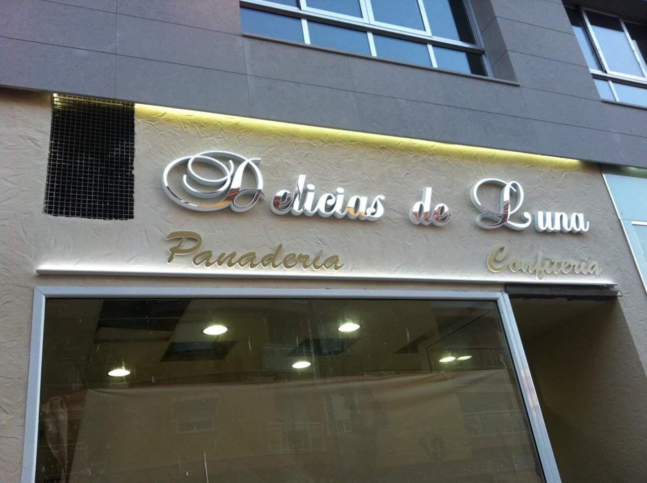 Letras corpóreas para pastelería