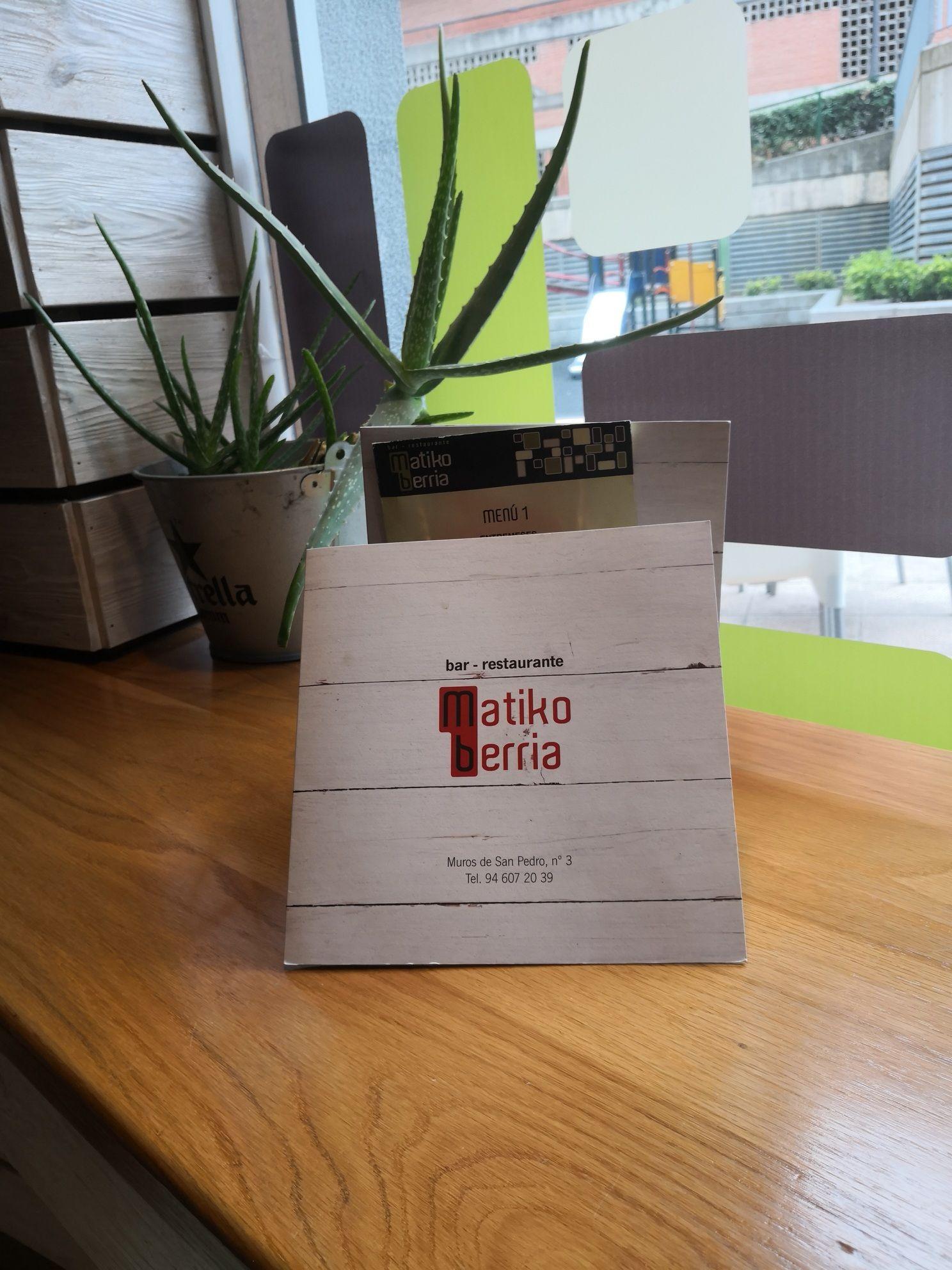 Carta y menú en Bilbao