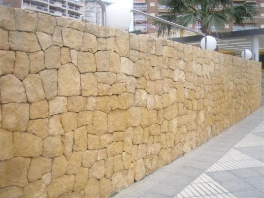 Muro de piedra natural interesting cimentacin de muro de - Muros de piedra natural ...