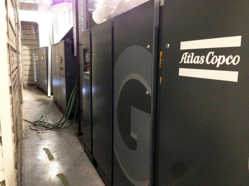 Compresores industriales Atlas Copco en Madrid