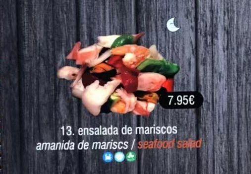 Ensalada de mariscos: Carta de DANI LIU