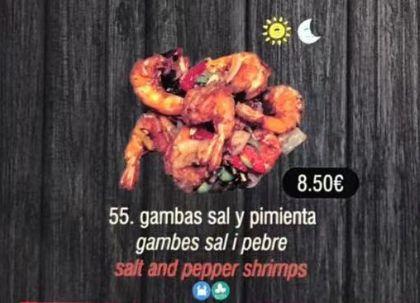 Gambas sal y pimienta: Carta de DANI LIU