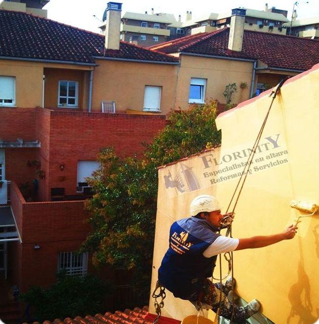 Pintura sobre fachadas y exteriores en Llucmajor, Palma