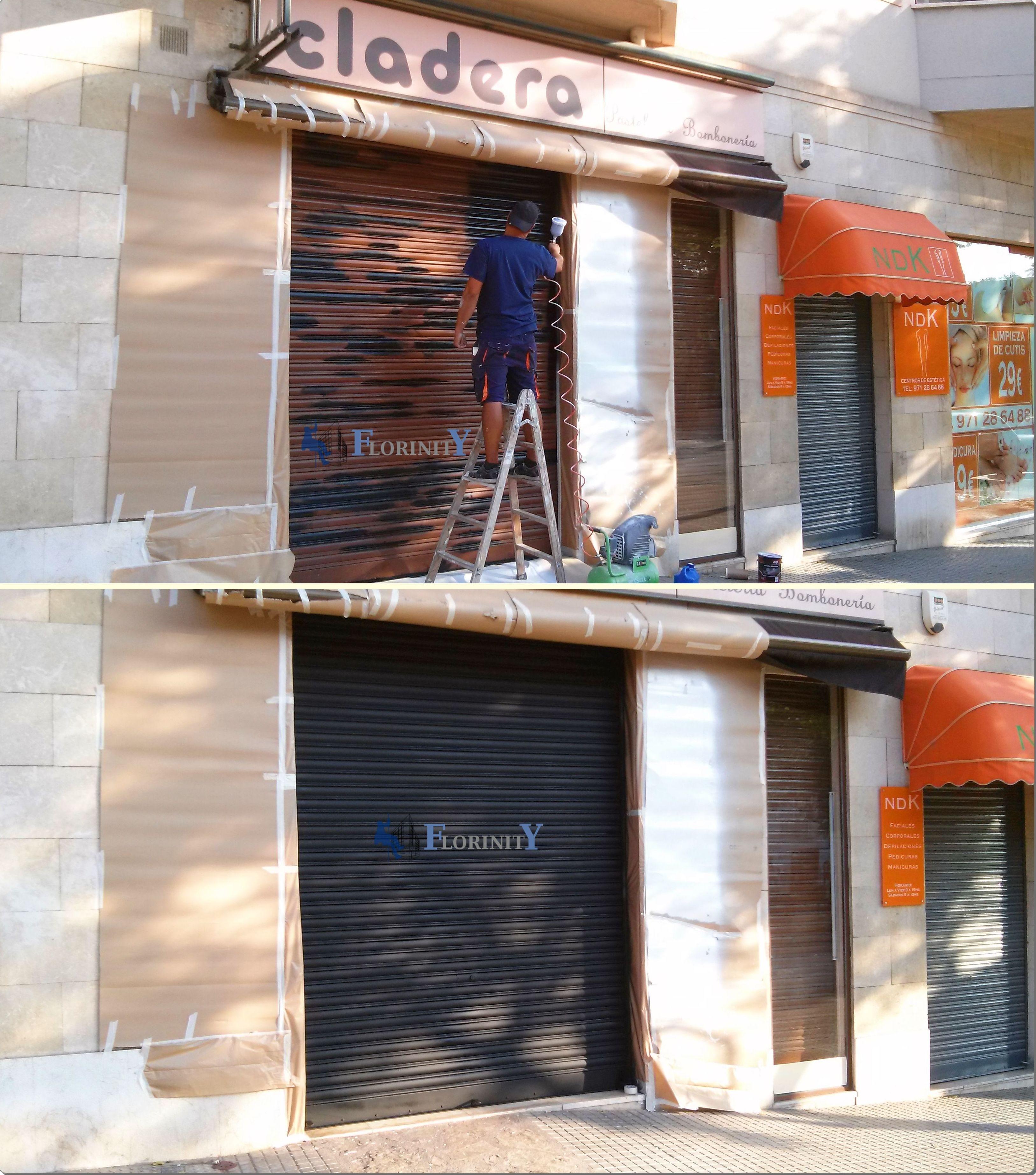 Pintura de persiana de seguridad de negocio