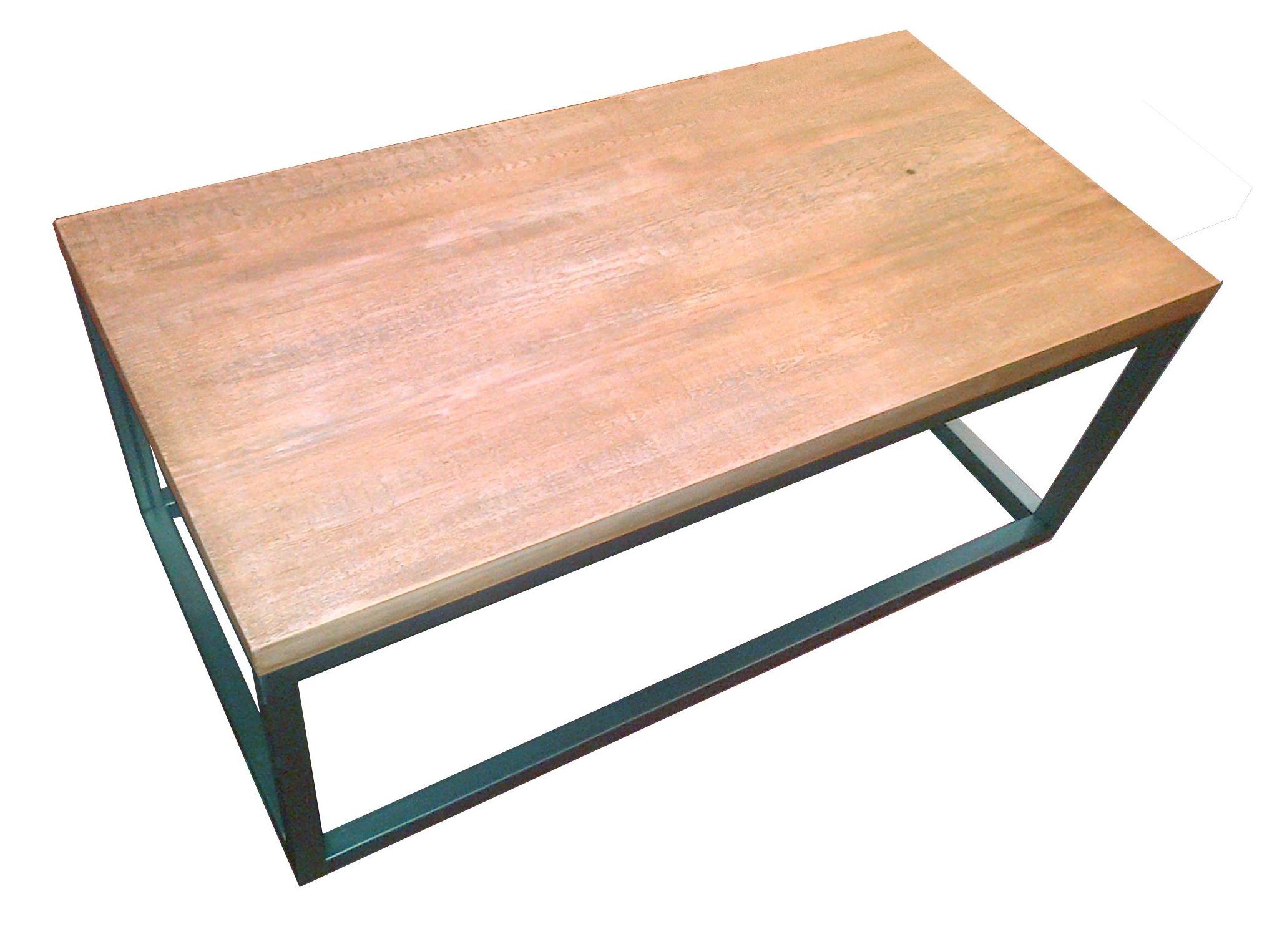 Mesa Cubo hierro y madera