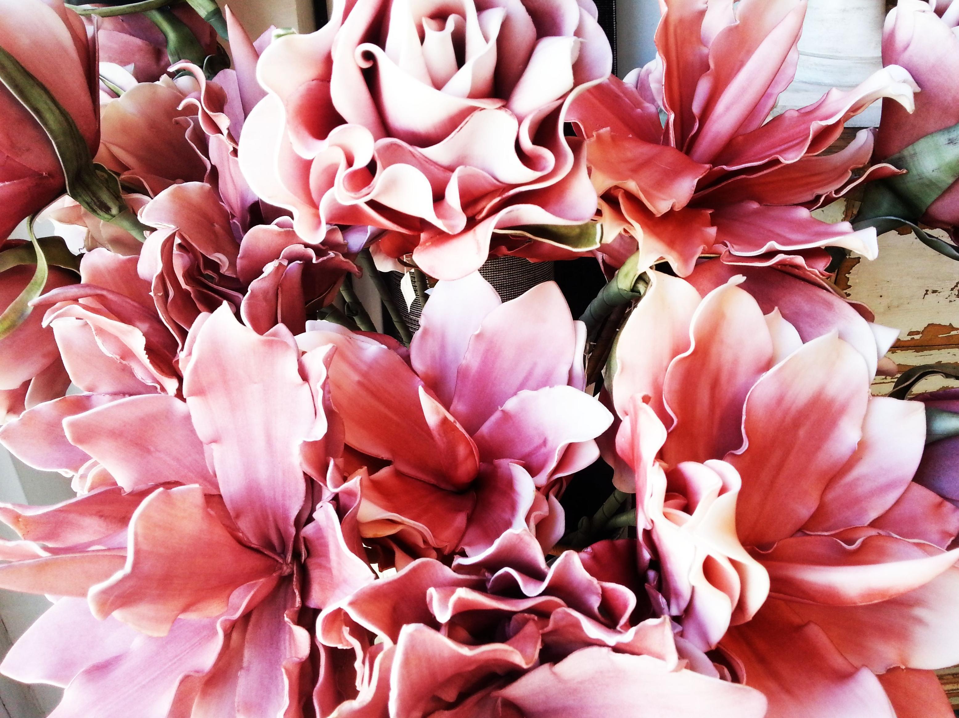 Flor Foam Grande Rosa : Catálogo de Casa Nativa