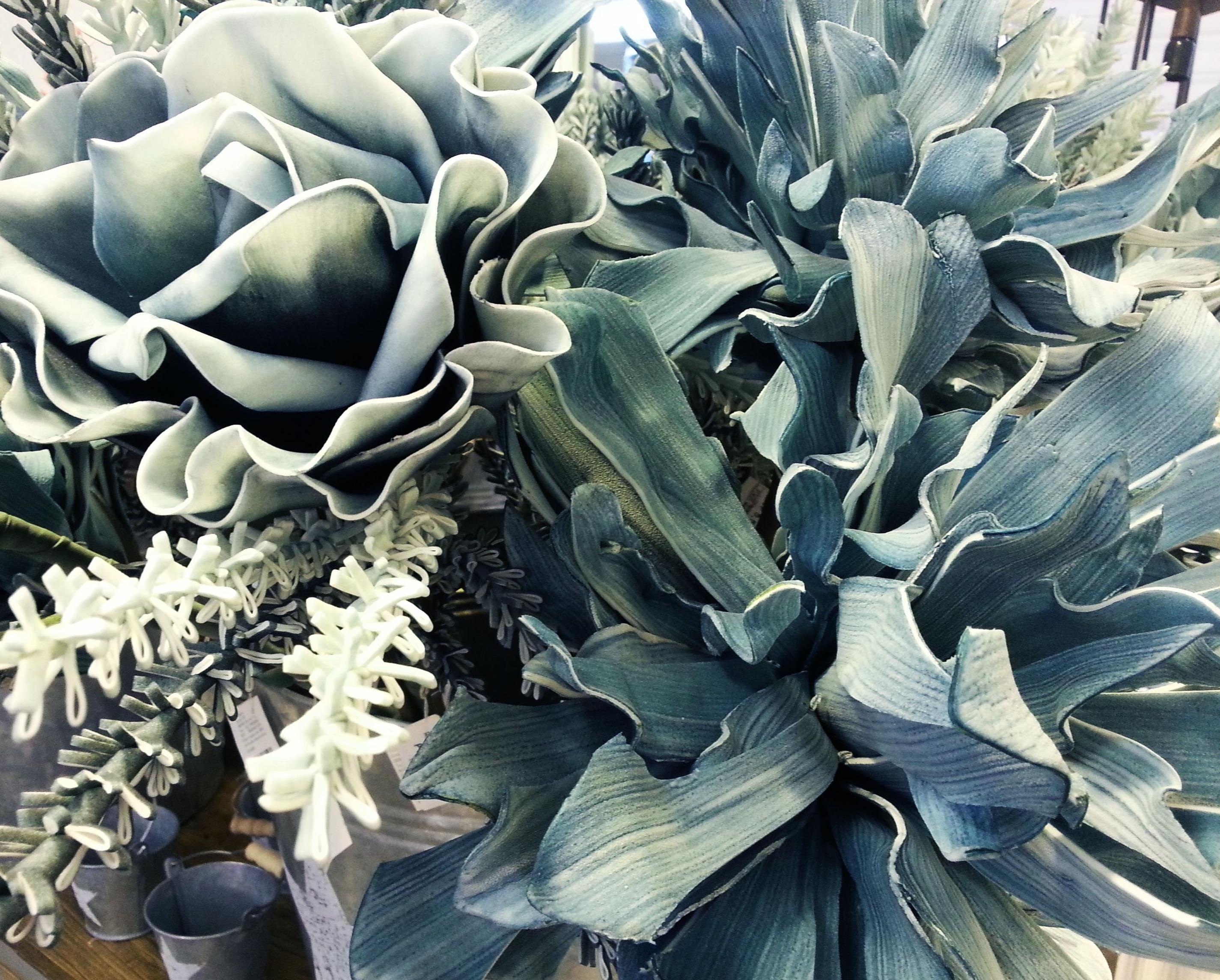 Flores de Foam Grandes Azules: Catálogo de Casa Nativa