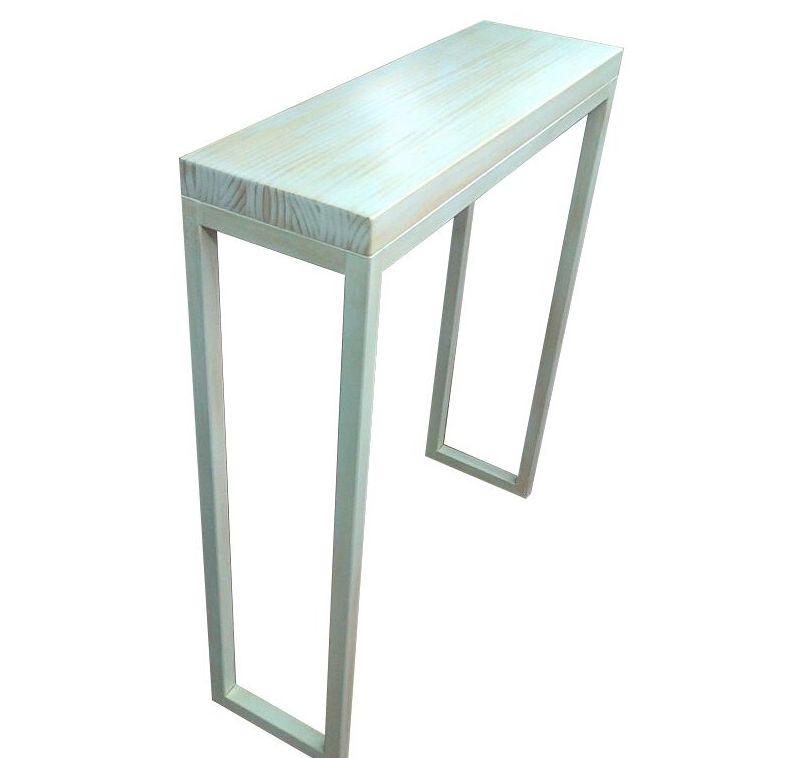 Consola a medida hierro y madera