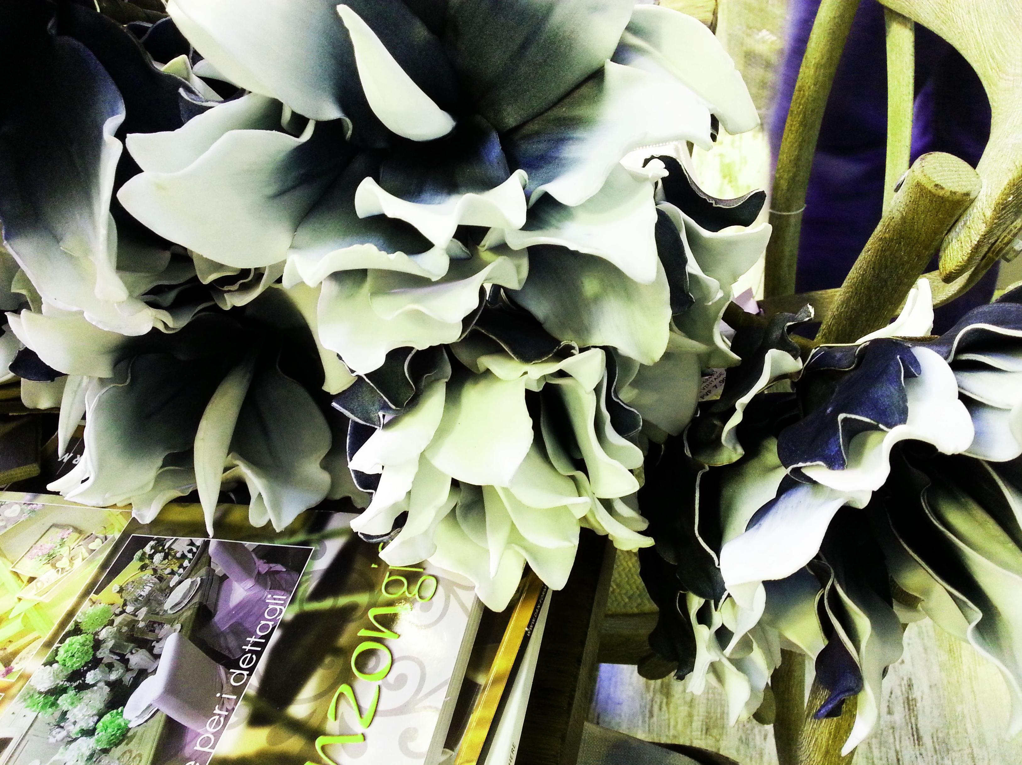 Flor de Foam Grande Blanca y Azul: Catálogo de Casa Nativa