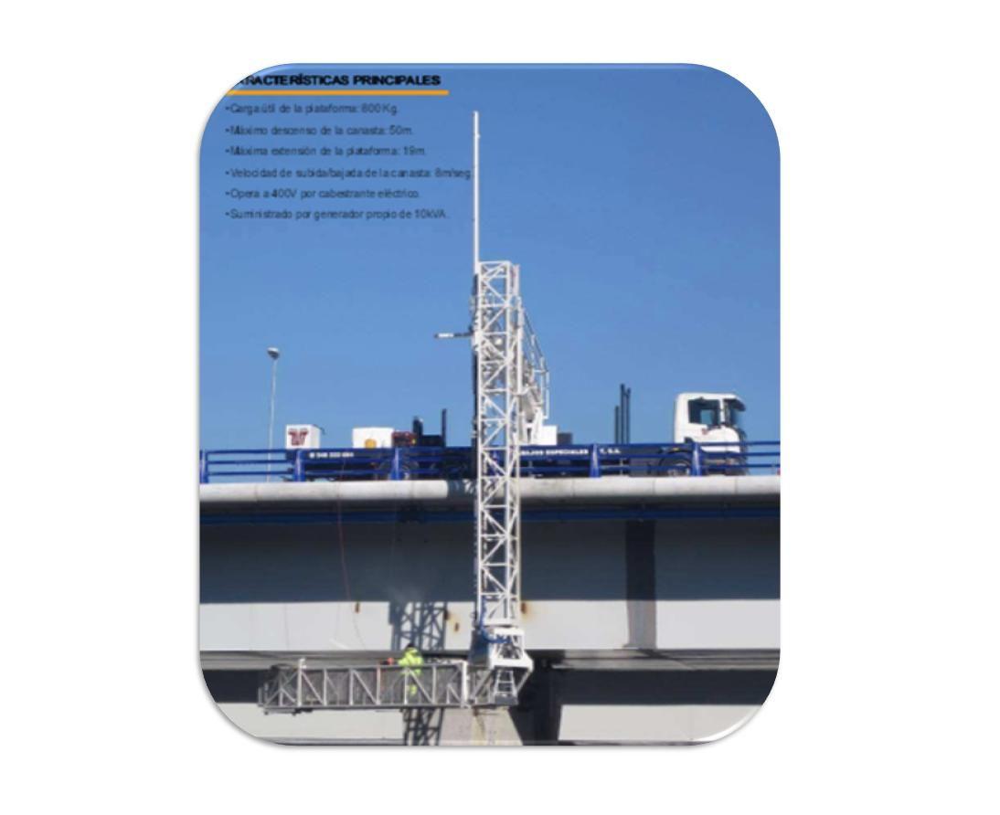 Alquiler de camión plataforma para inspección de puentes bajo tablero: Servicios de Trabajos Especiales Zut