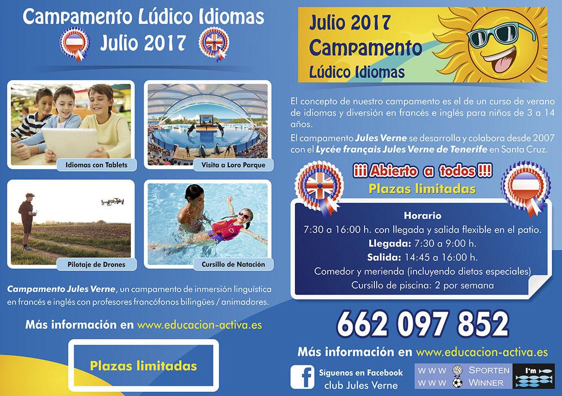 Campamento de idomas 2017 en Tenerife