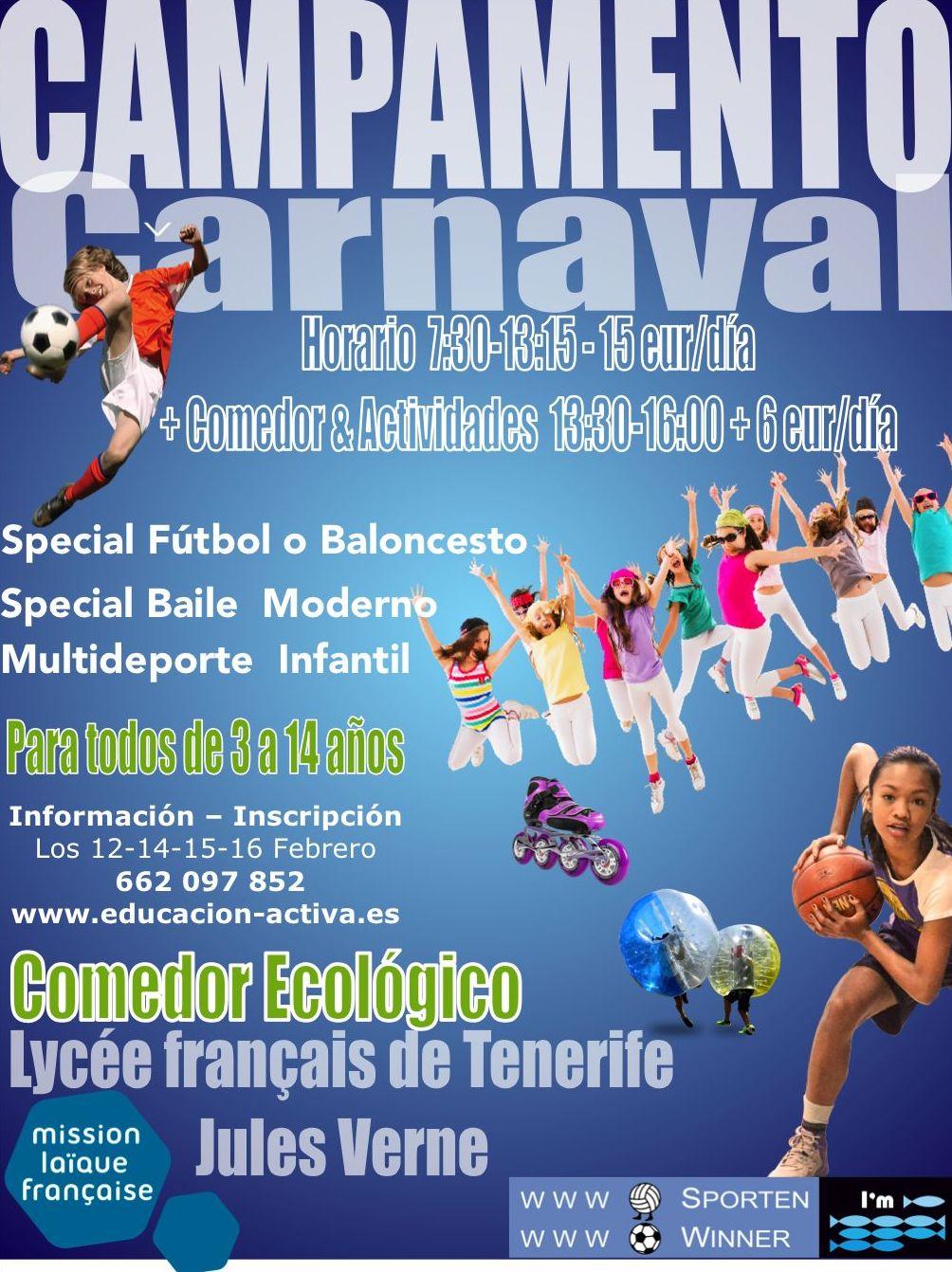 Campamento de carnaval Tenerife 2018