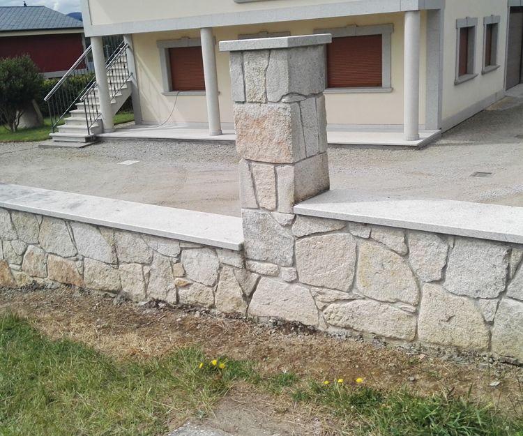 Construcción de vallas de piedra