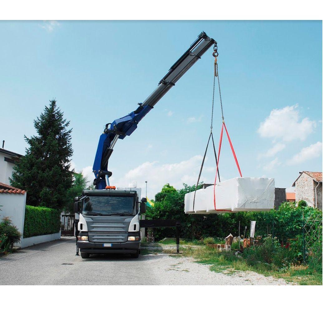 Trabajos con camión Grúa, excavadoras, maquinas de chorreo....: Servicios de Construcciones J. Ares López