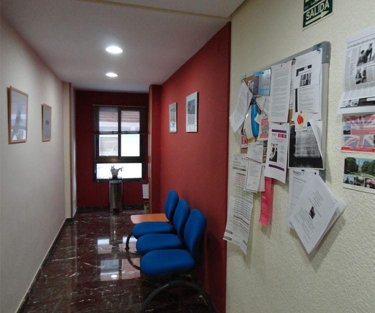 Interior de la academia