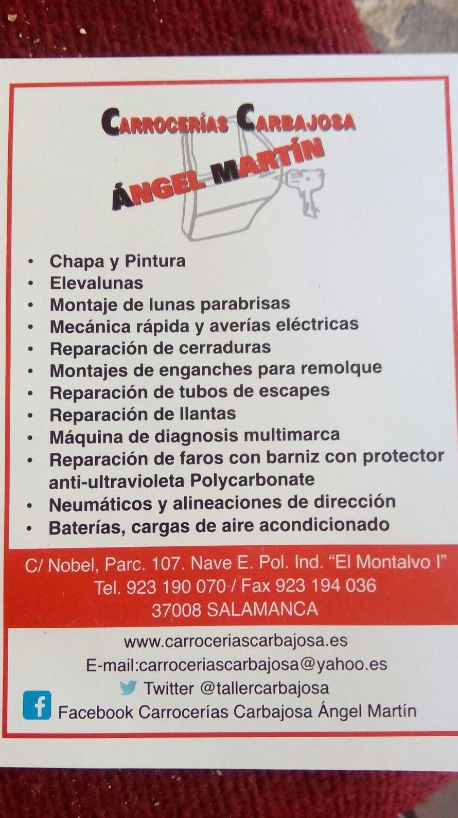 Foto 7 de Talleres de chapa y pintura en Salamanca | Carrocerías Carbajosa (Ángel Martín)