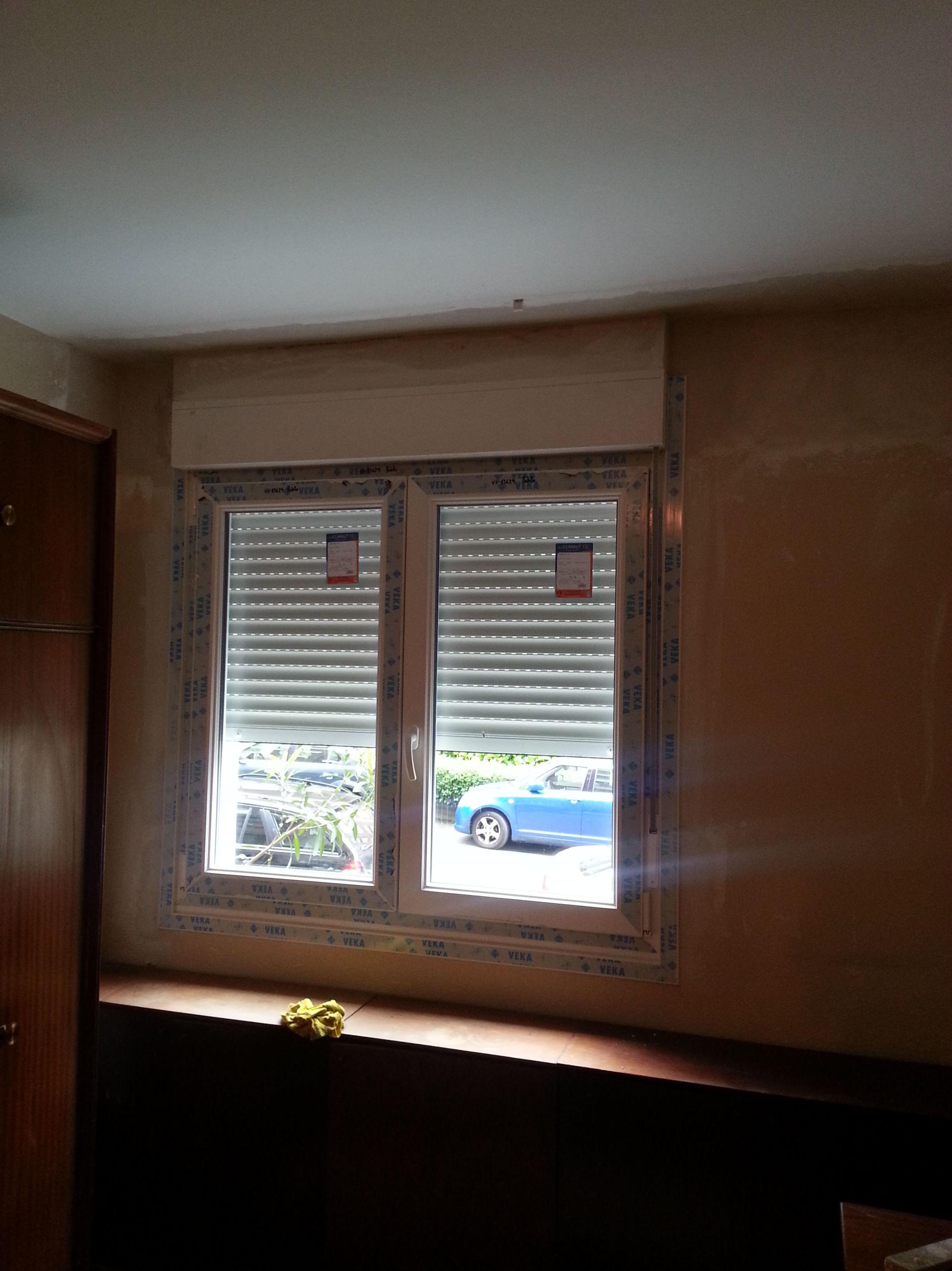 Instalación de ventanas con persianas