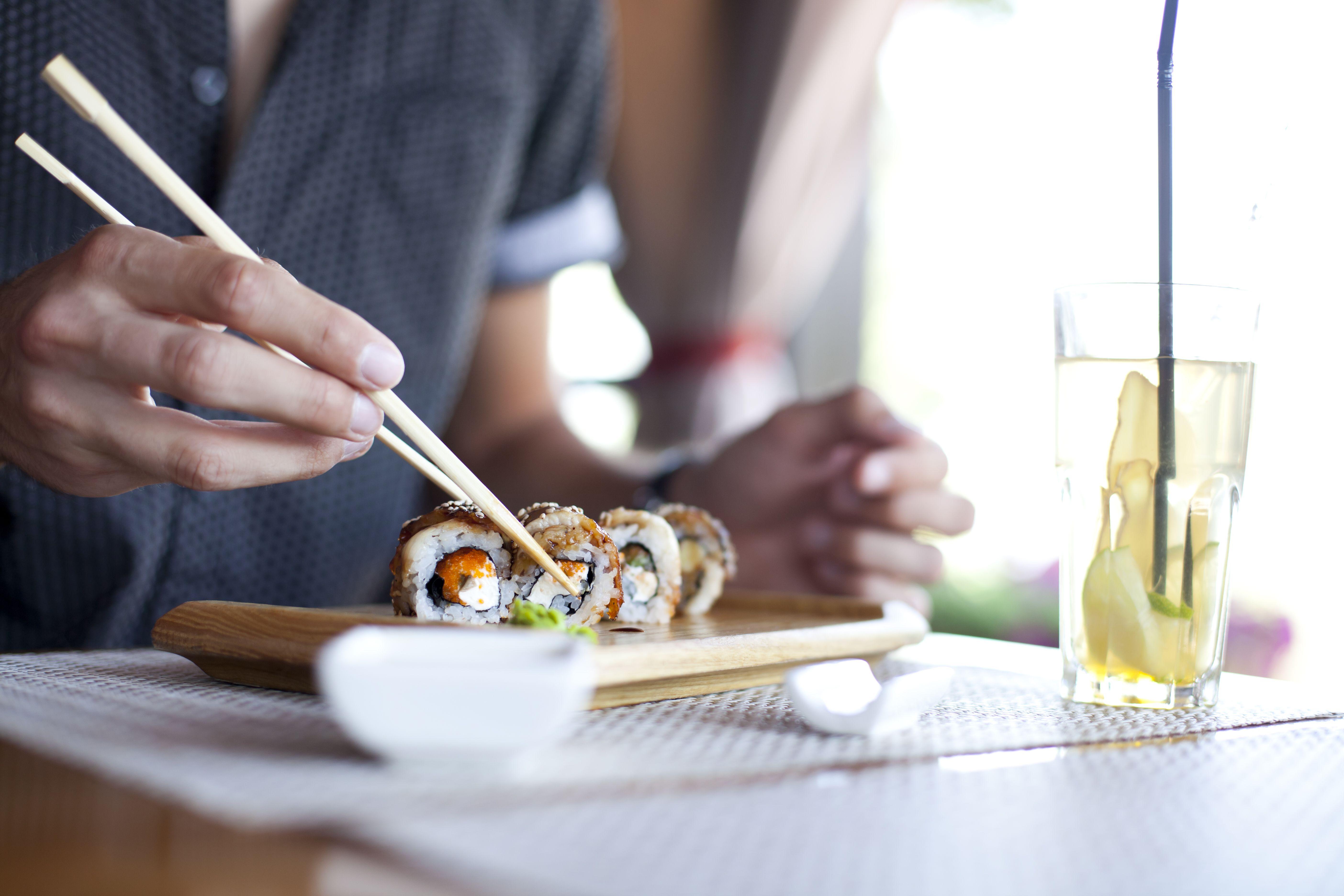 Gran variedad de sushi