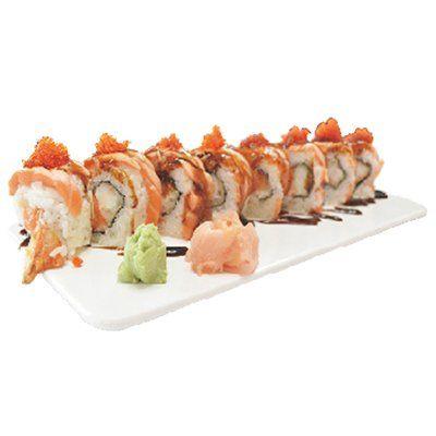 Uramaki salmón tostada: Carta de Ya Sushi