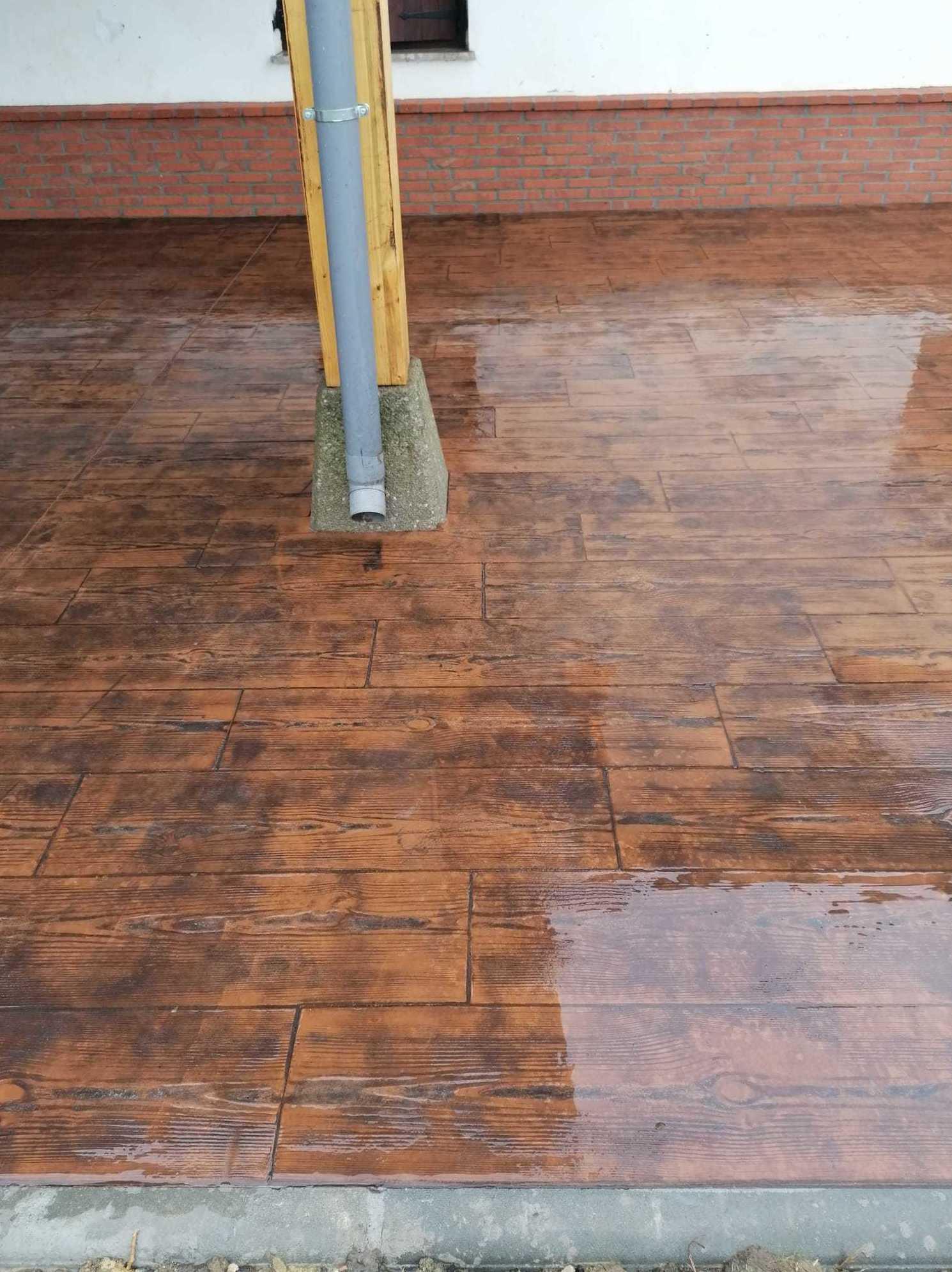 suelo cemento impreso madera