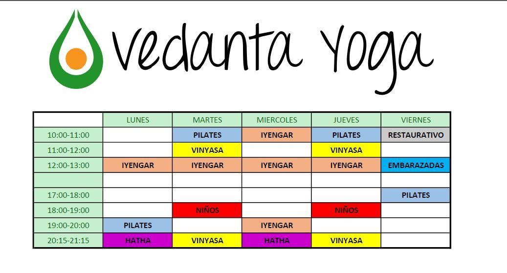 Horario: Clases y horarios de Vedanta Yoga