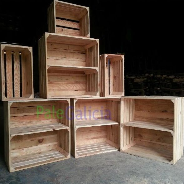 Cajas de madera para estanterías sin pintar: Productos de Palegalicia