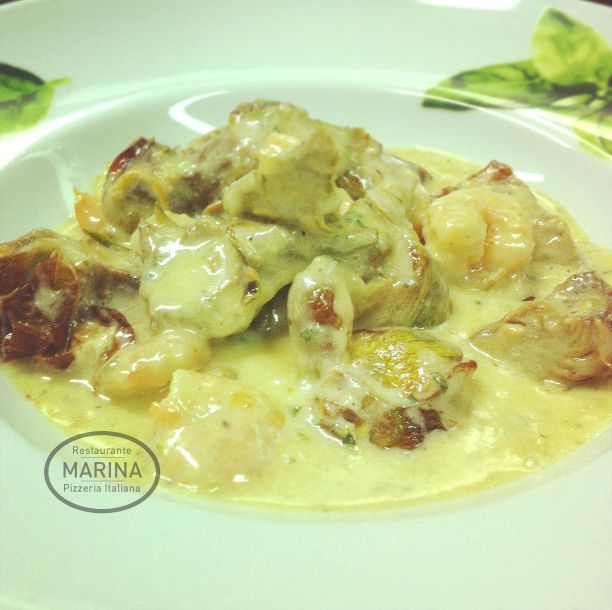 Platos de cocina italiana en Calella