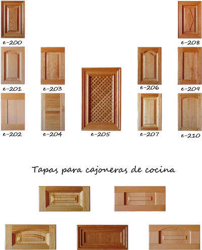 Puertas de armarios de cocina cat logo de maderas perafort for Frentes de armarios de cocina