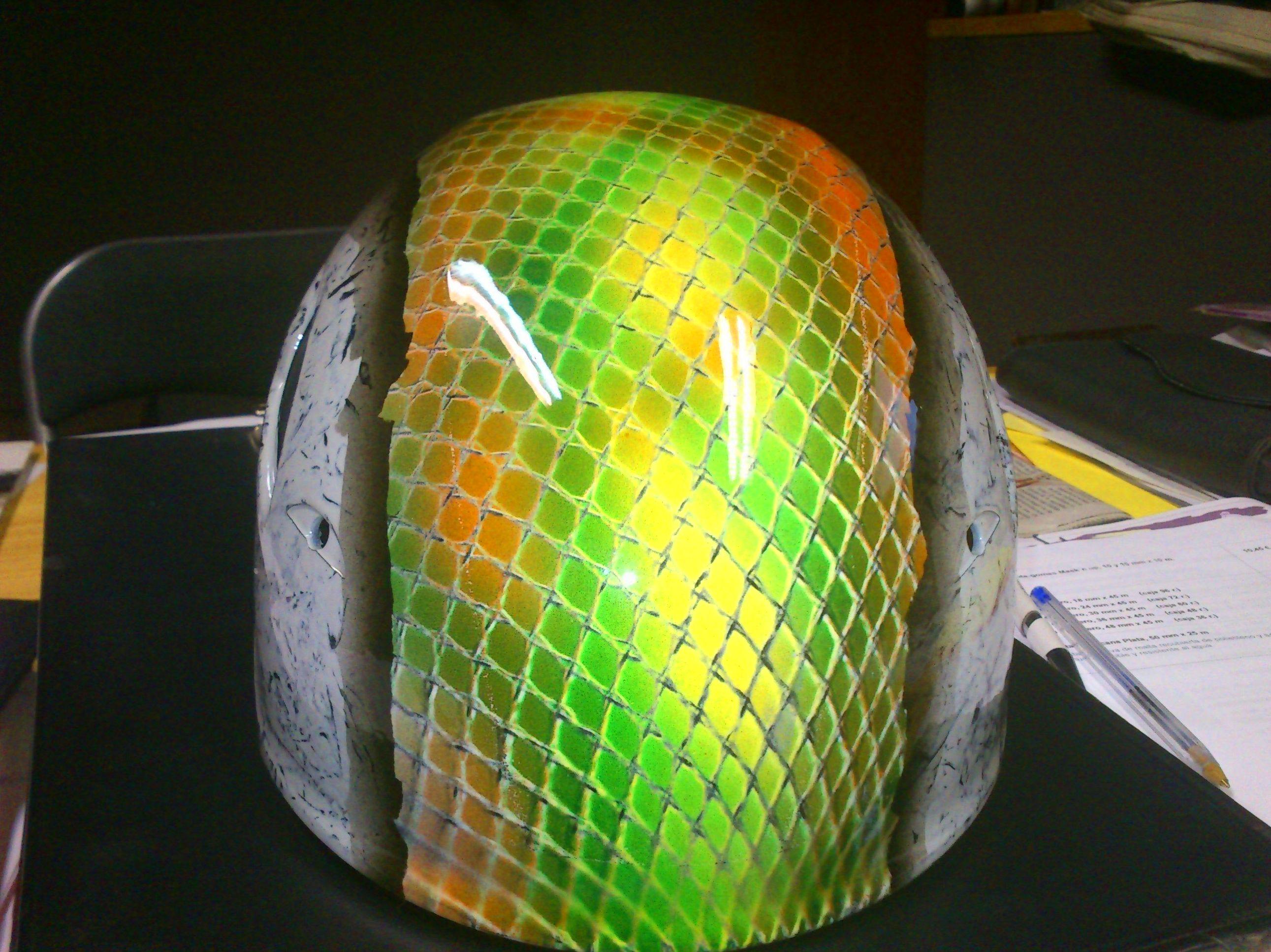 casco de escalada con un toque personal