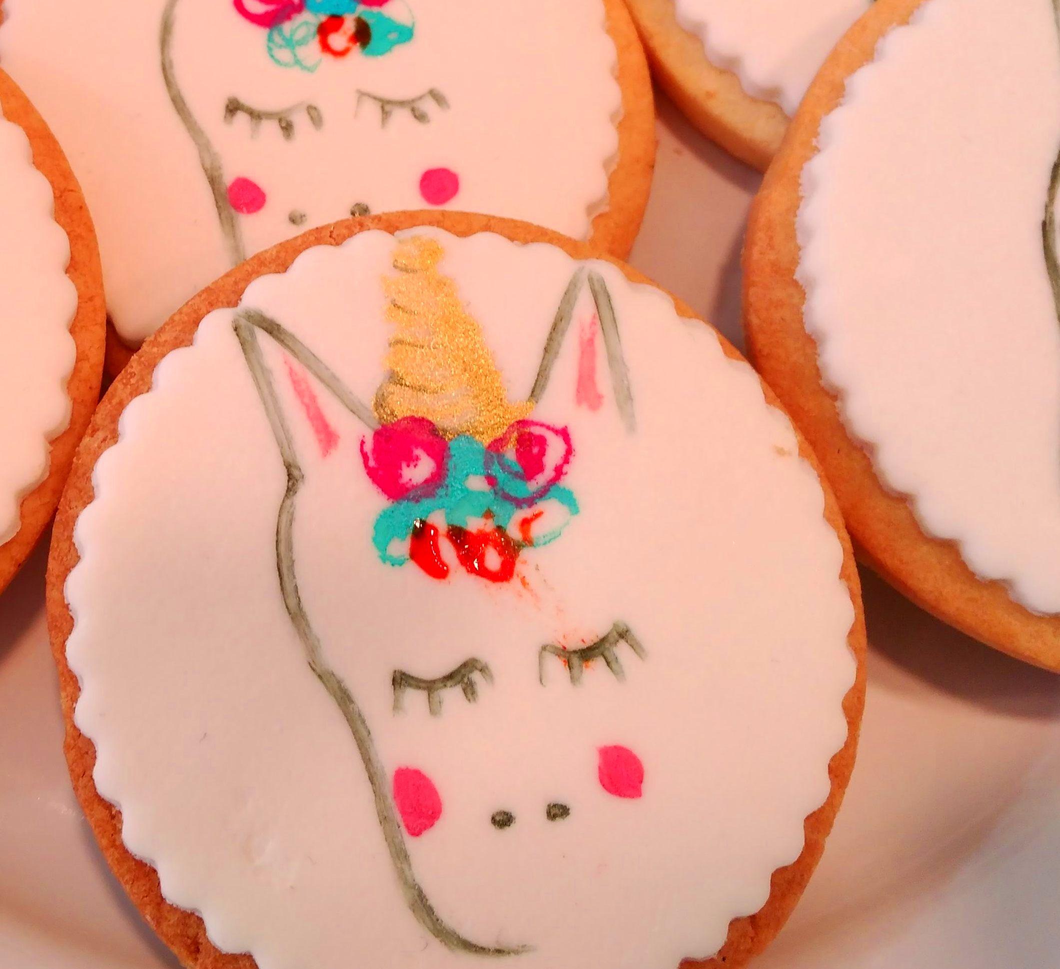 galletas unicornio, galletas personalizadas, Fraga, Huesca