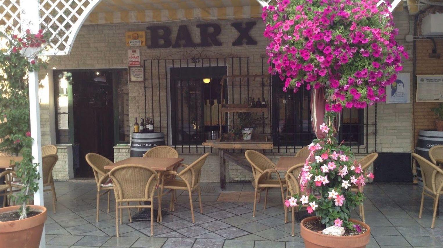 Fachada del restaurante Bar X