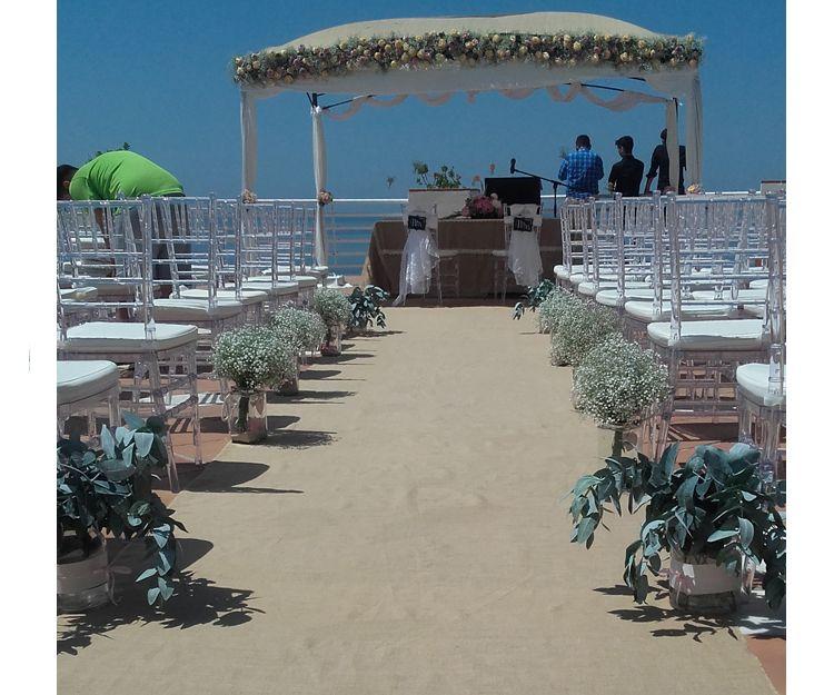 Ramos y flores para boda en Salobreña