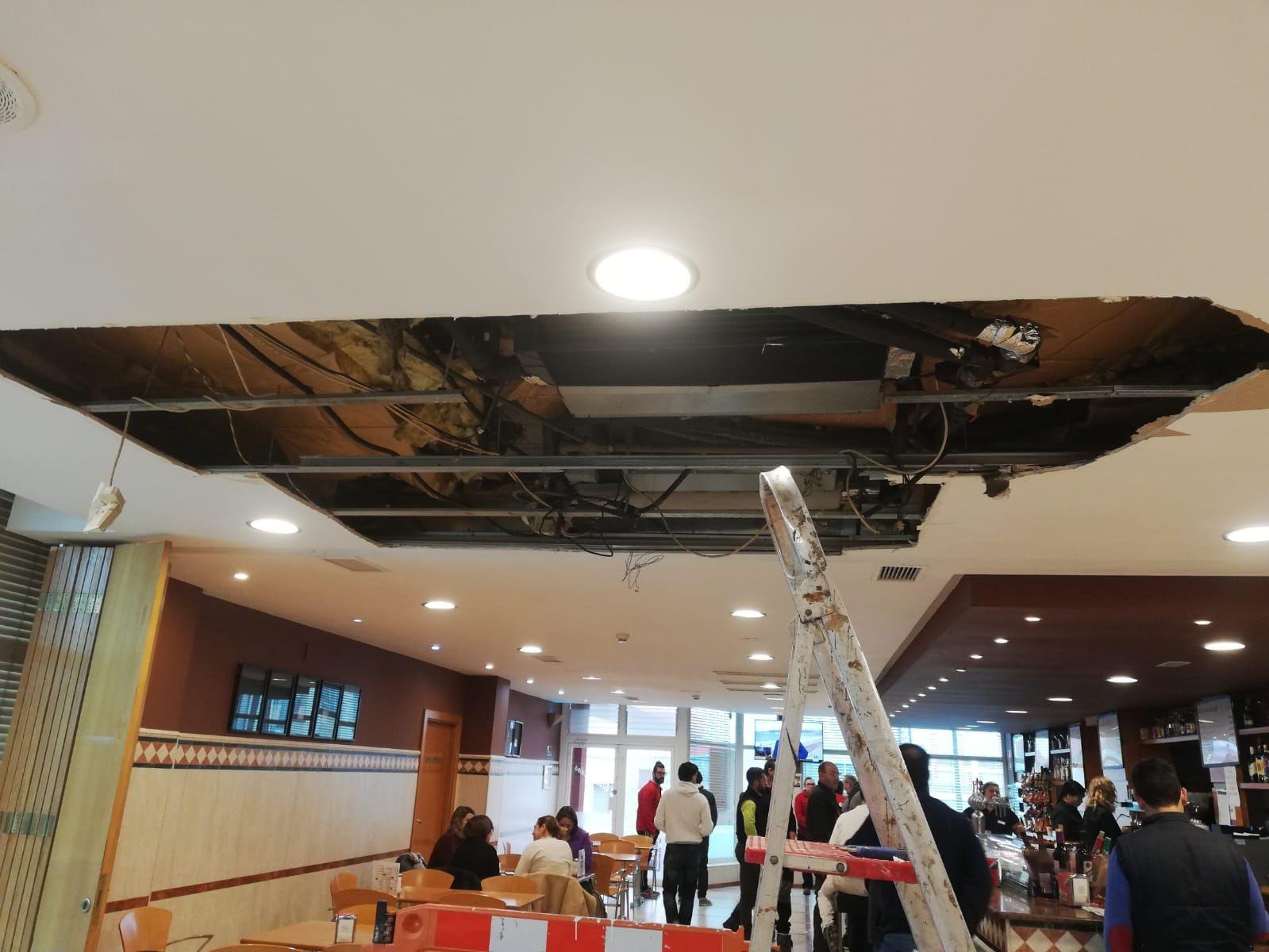 reparación techo de hotel