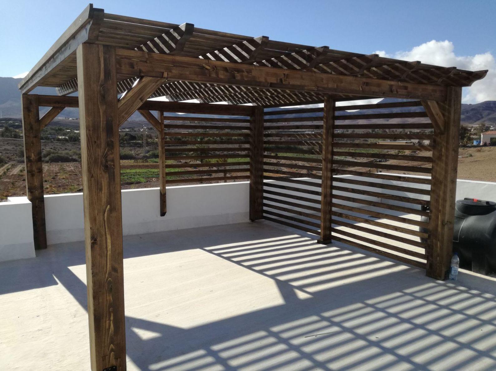 Pérgolas de madera Fuerteventura