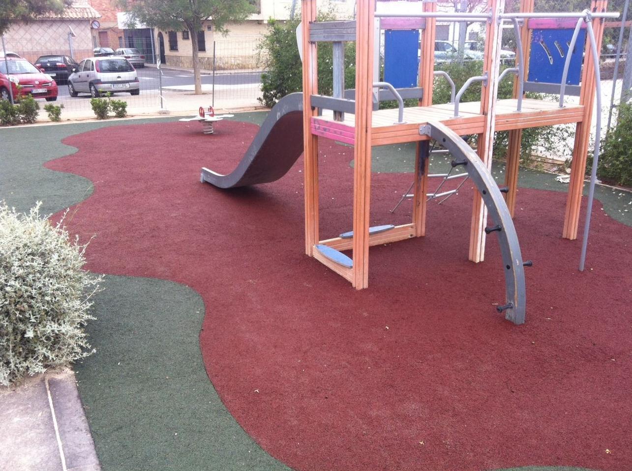 Caucho continuo Elastypark en Aldaya (Valencia)