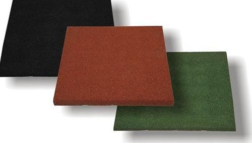 Colores de baldosa de caucho