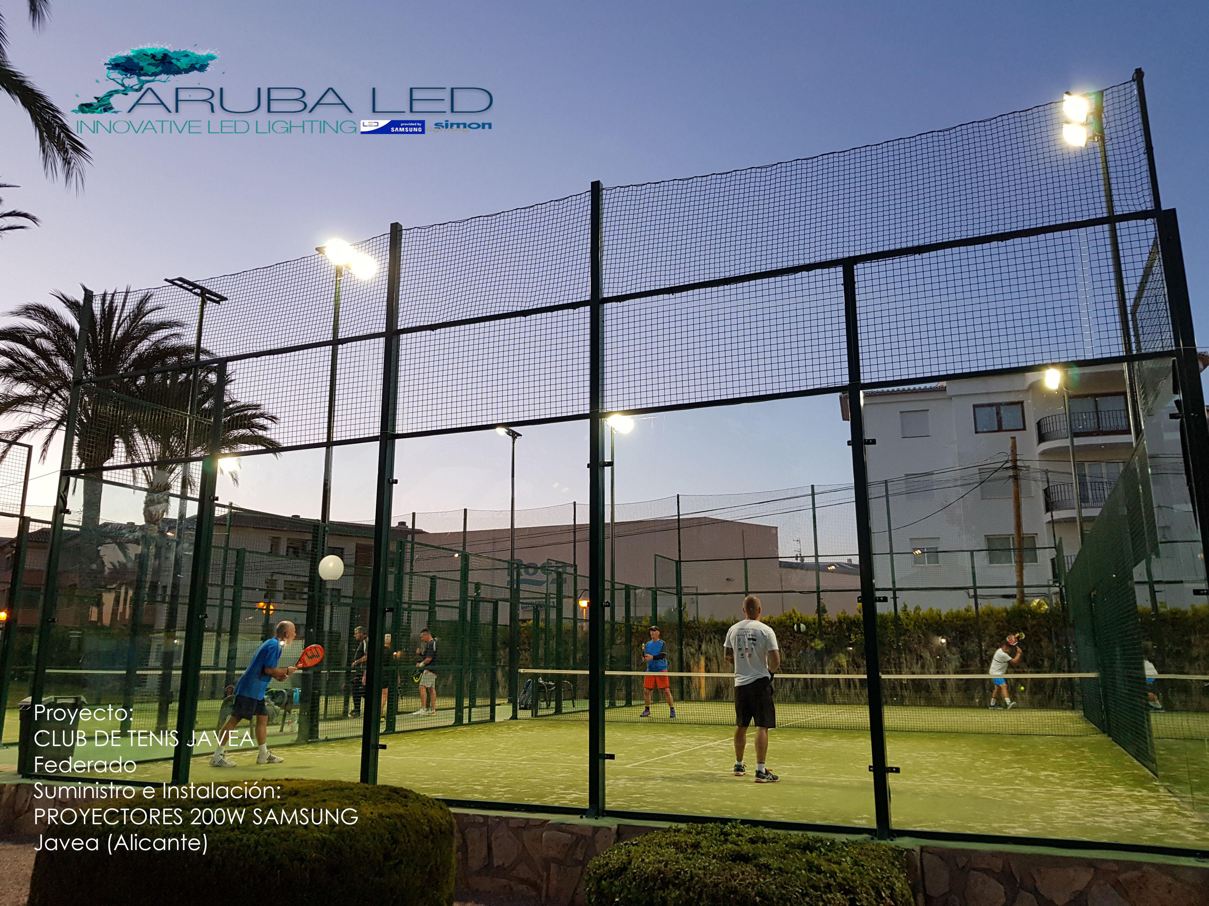 Iluminacion CLUB DE TENIS JAVEA