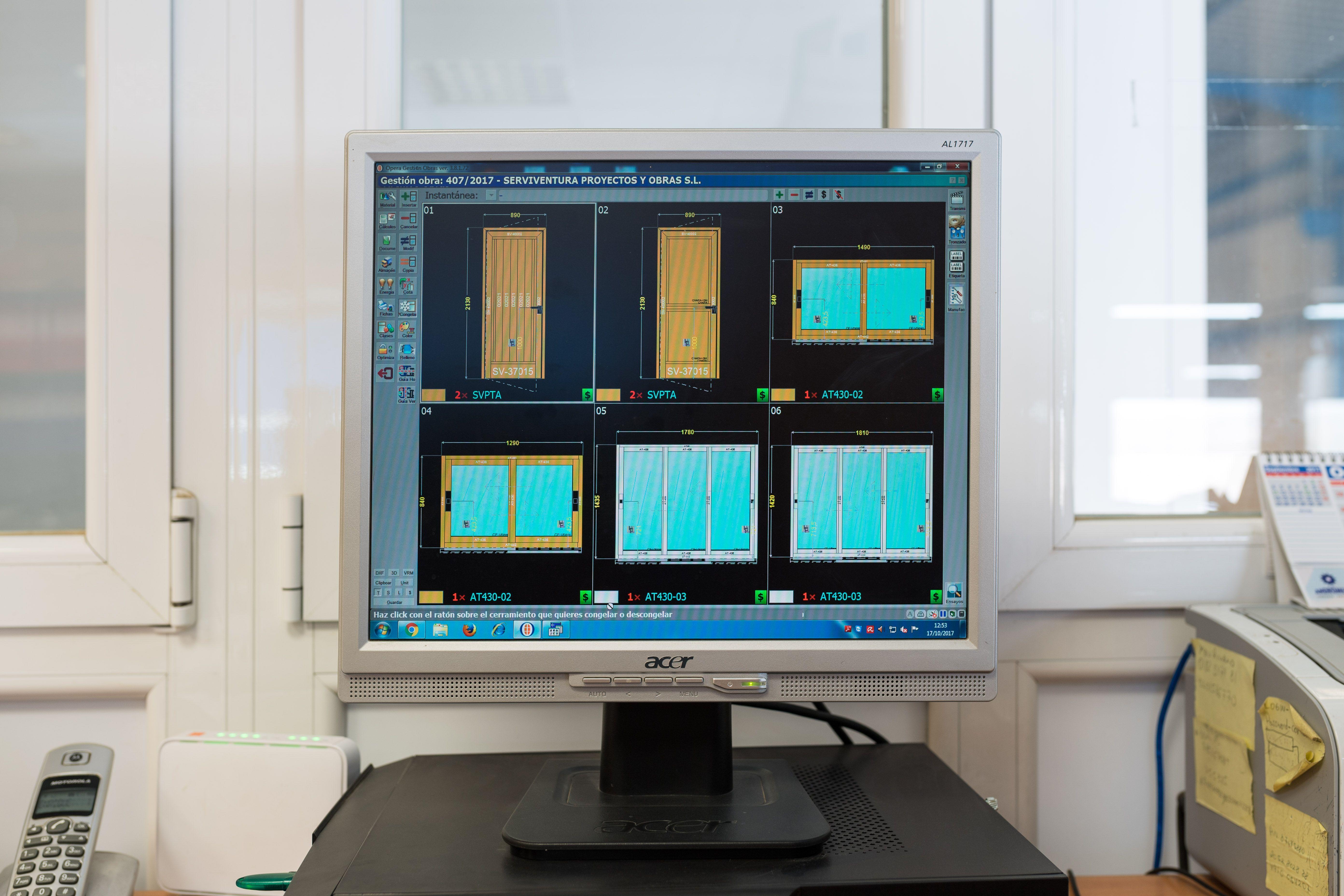 Proyectos de fabricación de ventanas de aluminio por ordenador