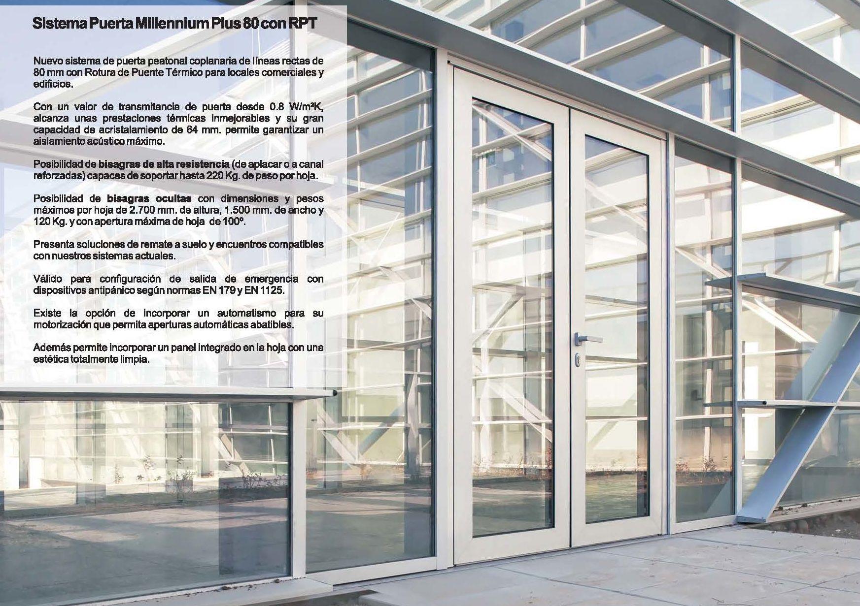 Puerta Millennium Plus 80 RPT: Catálogo de Jgmaluminio