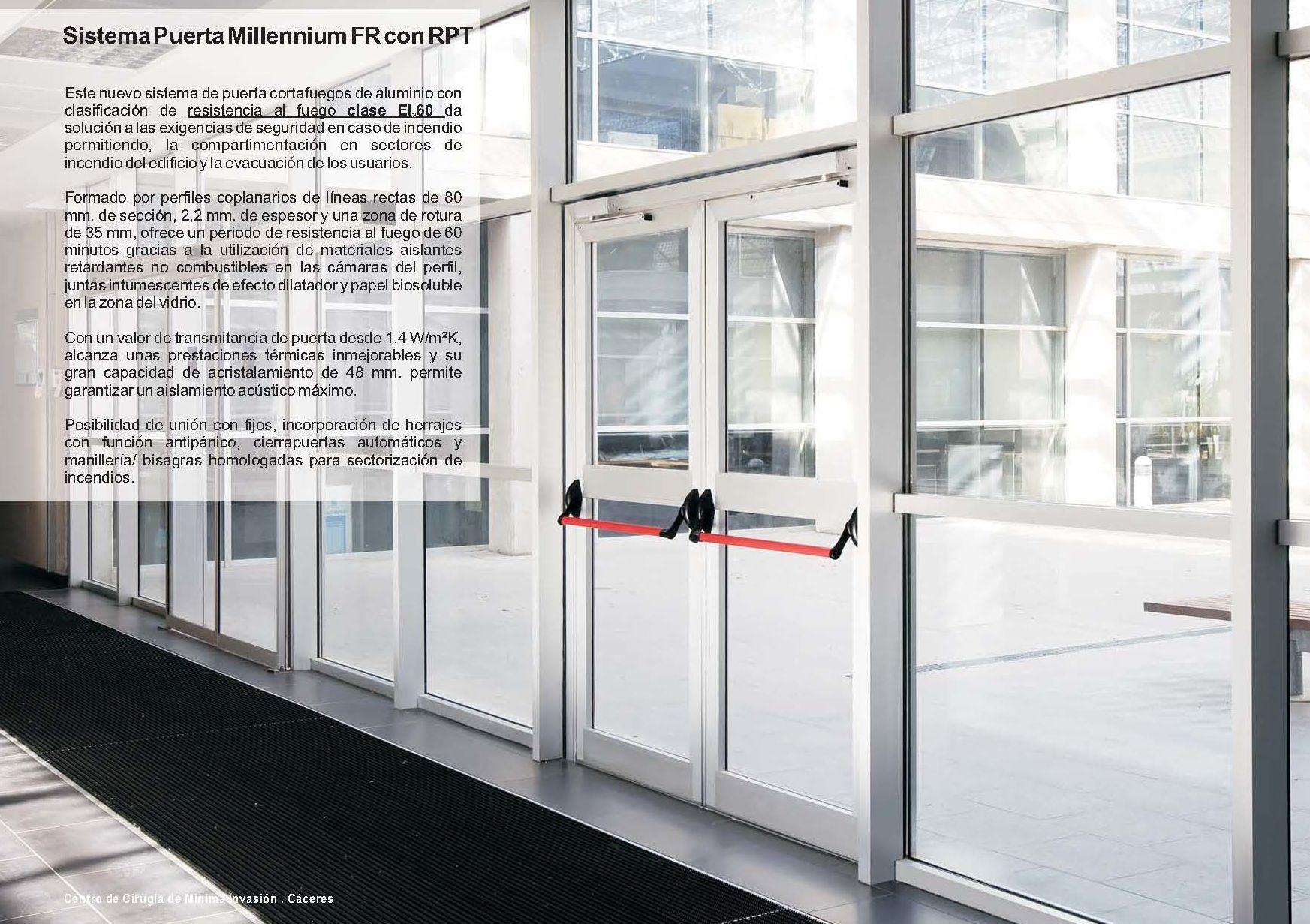 Puerta Millennium FR RPT: Catálogo de Jgmaluminio