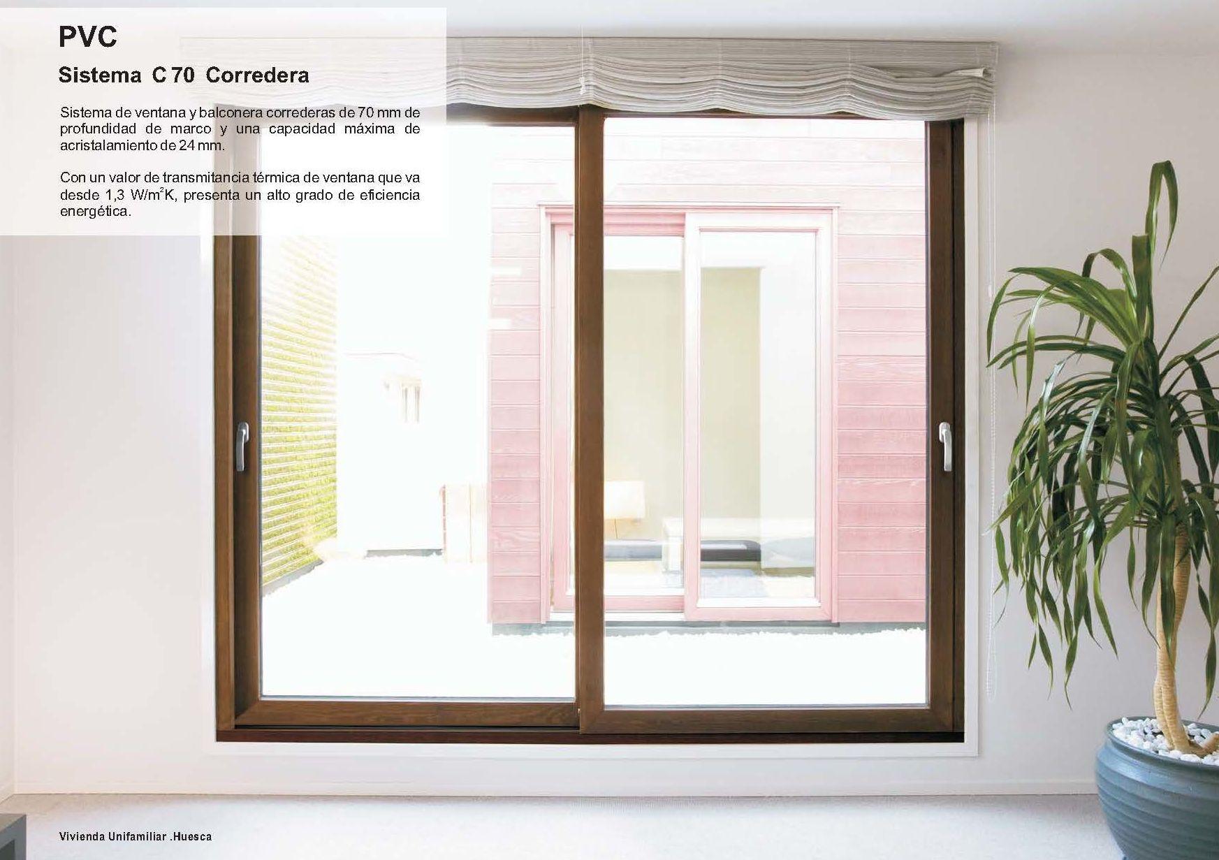 C 70 Corredera - PVC: Catálogo de Jgmaluminio