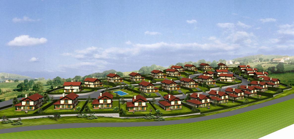 urbanización de viviendas unifamiliares en Cantabria