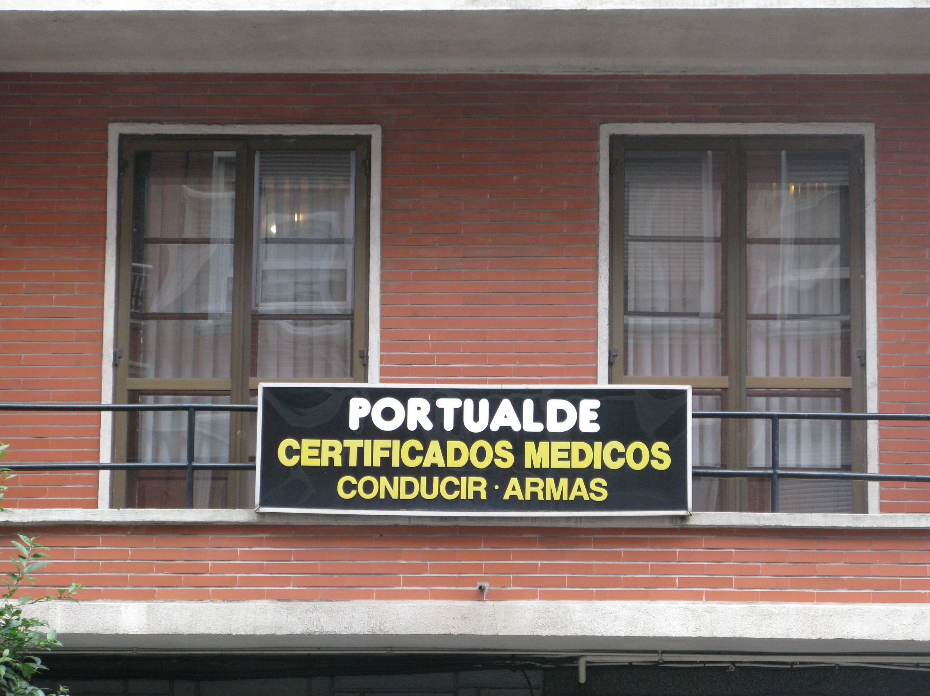 Certificados médicos Portualde