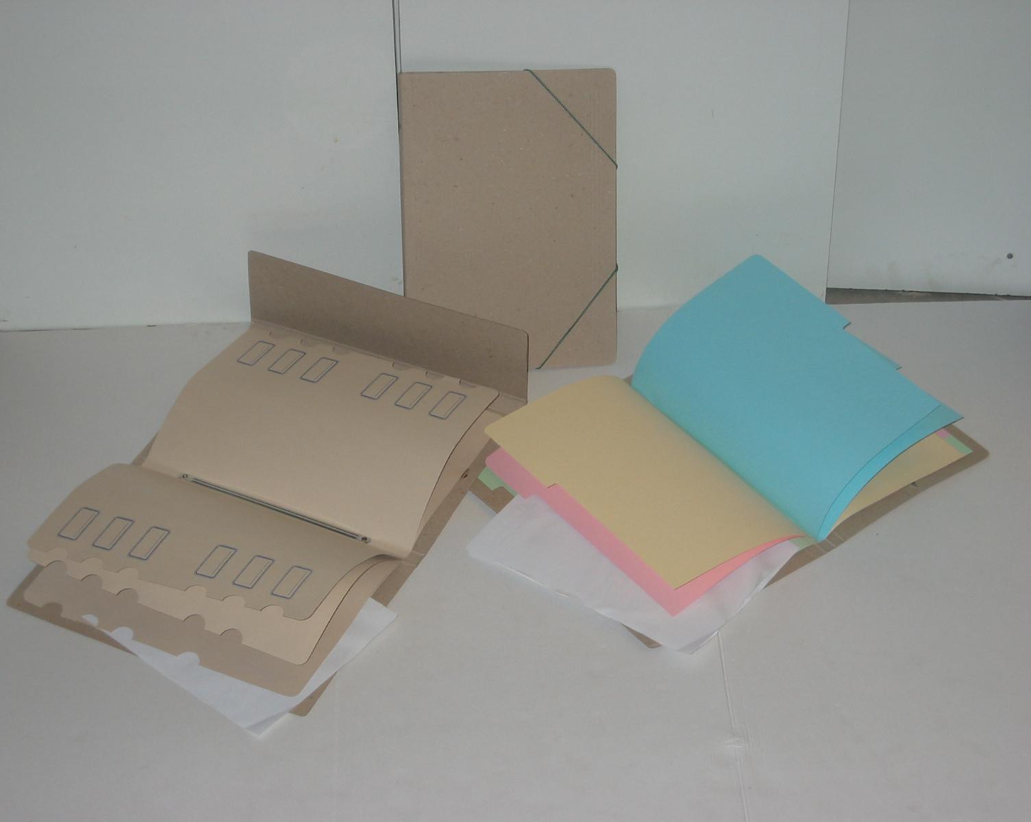 Carpeta con separadores