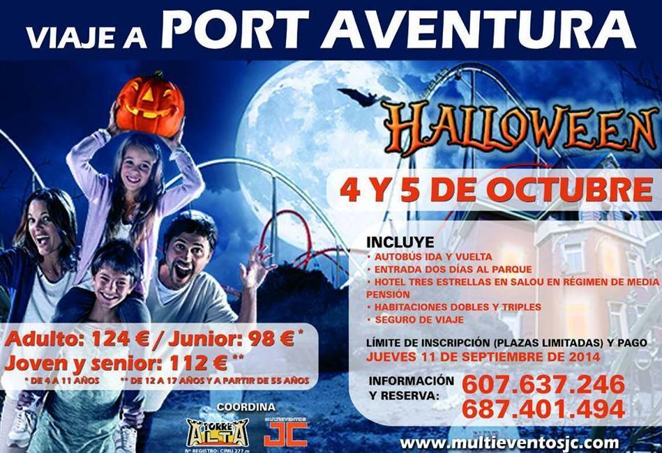 Viaje a Port Aventura desde Murcia, Viajes a parques tematicos desde Murcia, Viajes Murcia, Viajes Torre Alta, Viajes baratos Murcia, Alquiler de autocares Murcia, Halloween Port Aventura