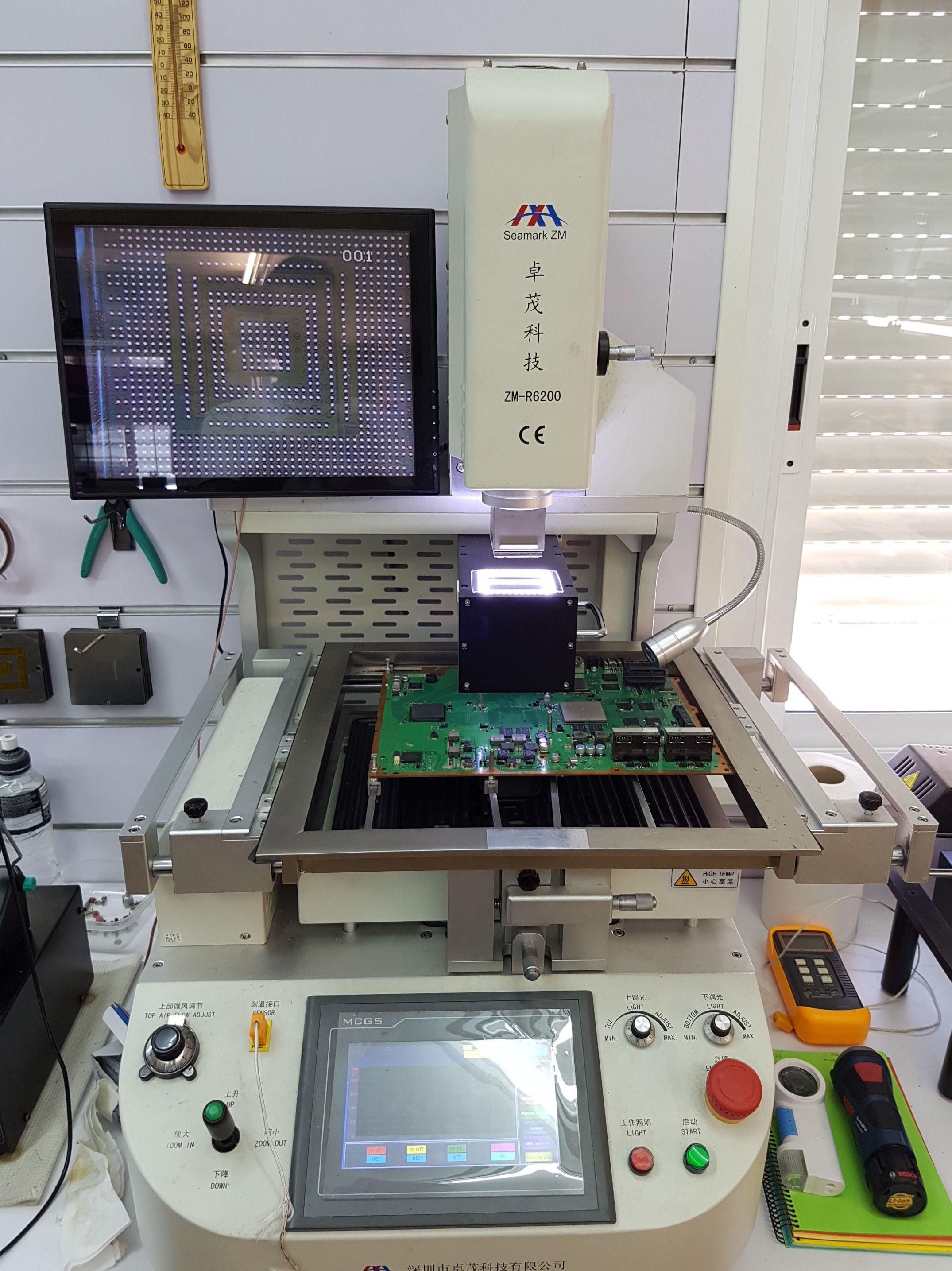 Reballing portatiles con maquin profesuinal con posicionador zm-r6200
