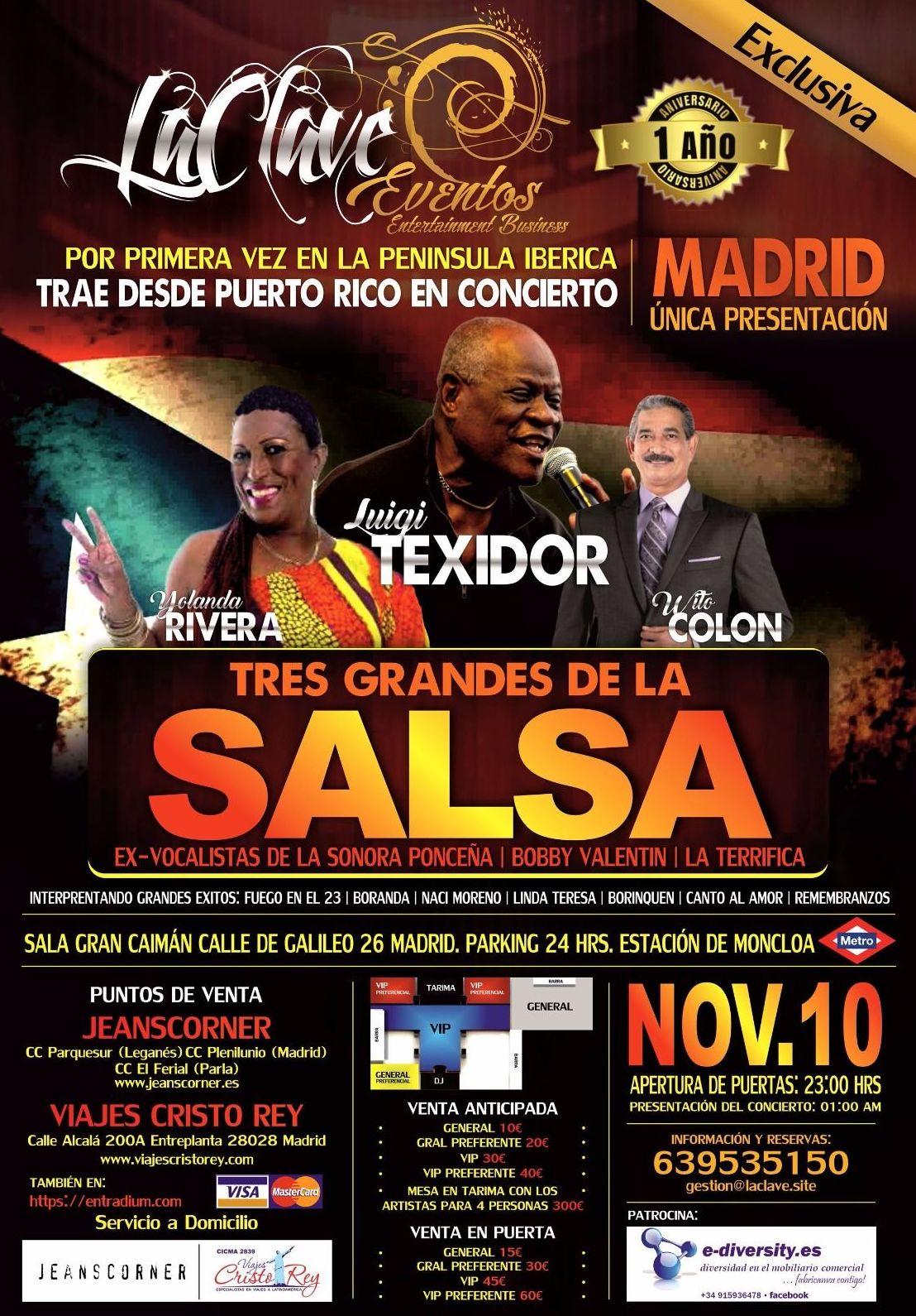 CONCIERTO DE SALSA EN MADRID